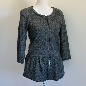EXPRESS PEPLUM ZIPPERED SWEATER-SHIRT